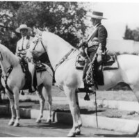 Adolfo Camarillo and another man on horseback