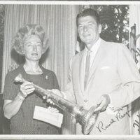 Katherine Hoffman Haley and Governor Ronald Reagan