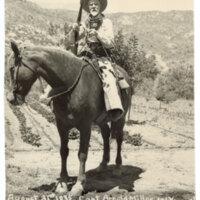 Captain Arnold Miller on Horseback