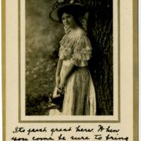 Photograph of Woman Advertisement Postcard