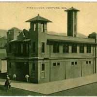 Ventura Fire House Postcard