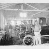 Employees at Mercer's Garage