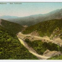 Maricopa Highway, Ojai, California postcard