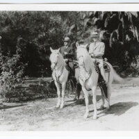 Adolfo Camarillo and Thomas Clarke on Horseback