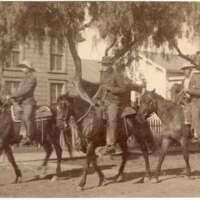 Mounted Riders on Oak Street, Ventura