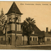 First Presbyterian Church, Ventura, post card