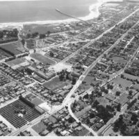 Aerial Oblique View of Ventura, 1940