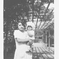 Ruth Sanchez with Infant