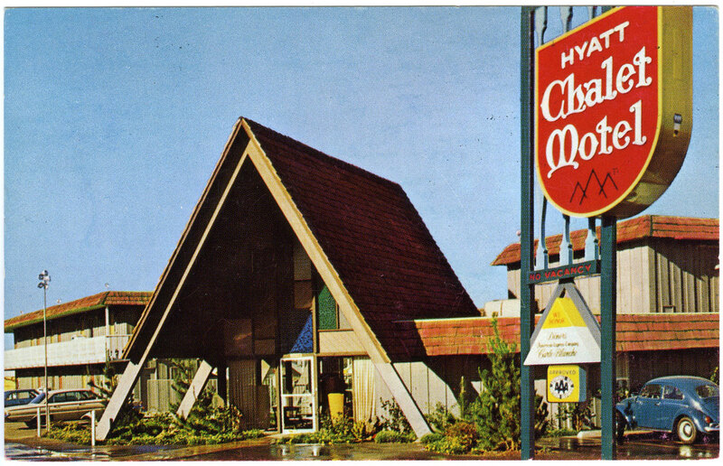 Hyatt Chalet Motel postcard