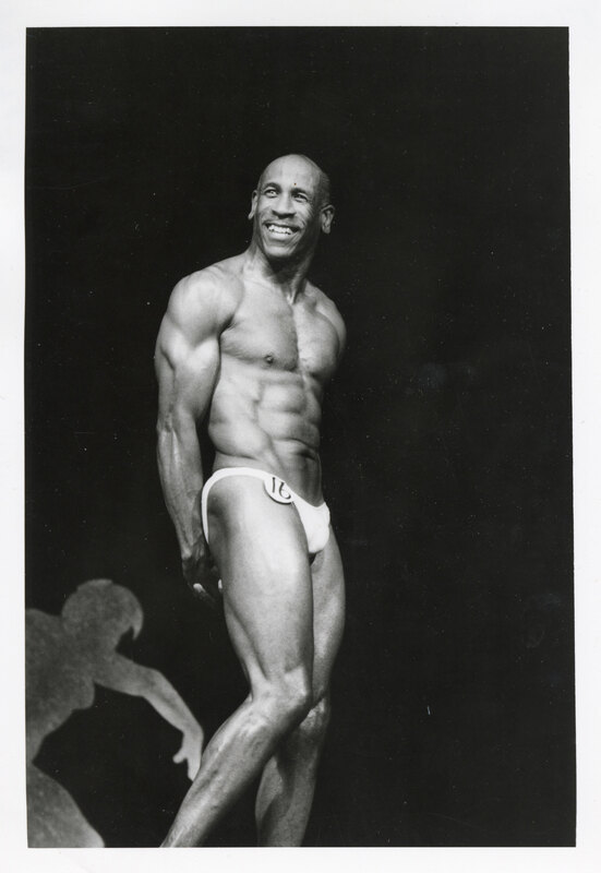 Emmet Littleton Poses as Part of a Bodybuilding Competition