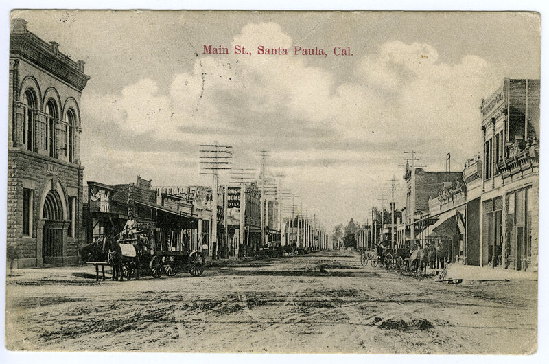 Main St. postcard