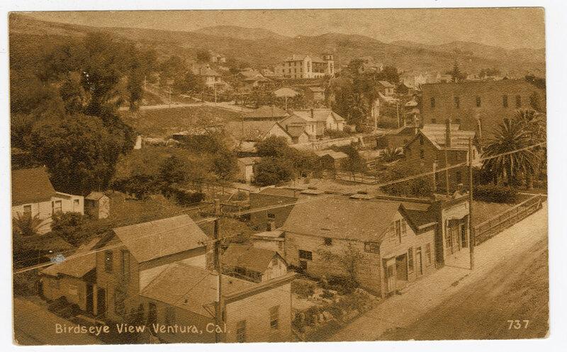 Bird's Eye View, Ventura, Cal. Post Card