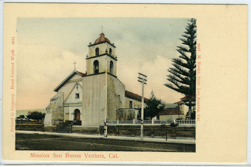 Mission San Buena Ventura post card