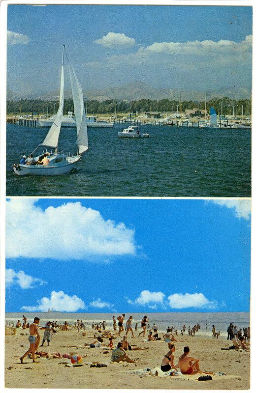 Ventura Marina & State Beach Park Postcard