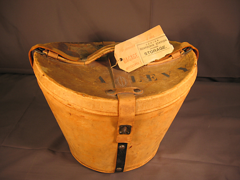 Leather Top Hat Box