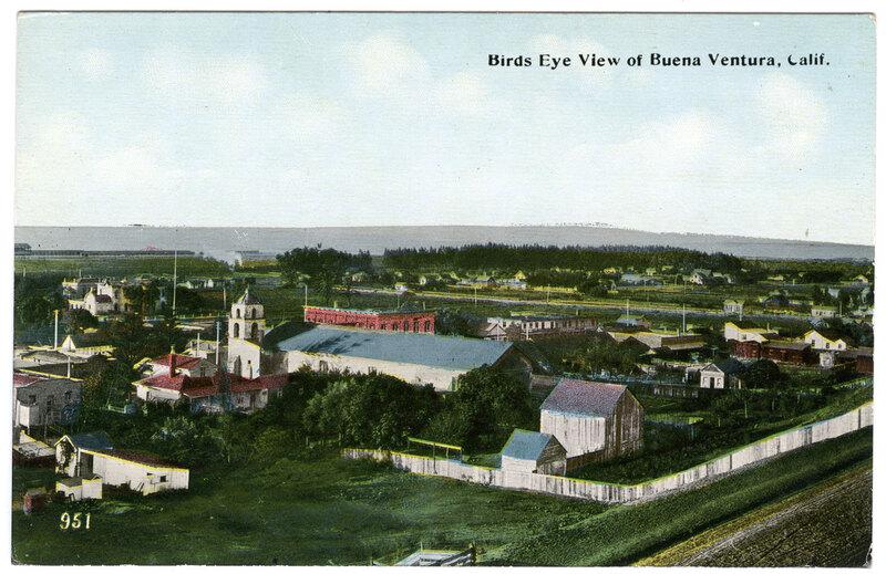 Bird's Eye View of Buena Ventura Postcard