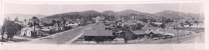 Panoramic View of Ventura, 1925-26