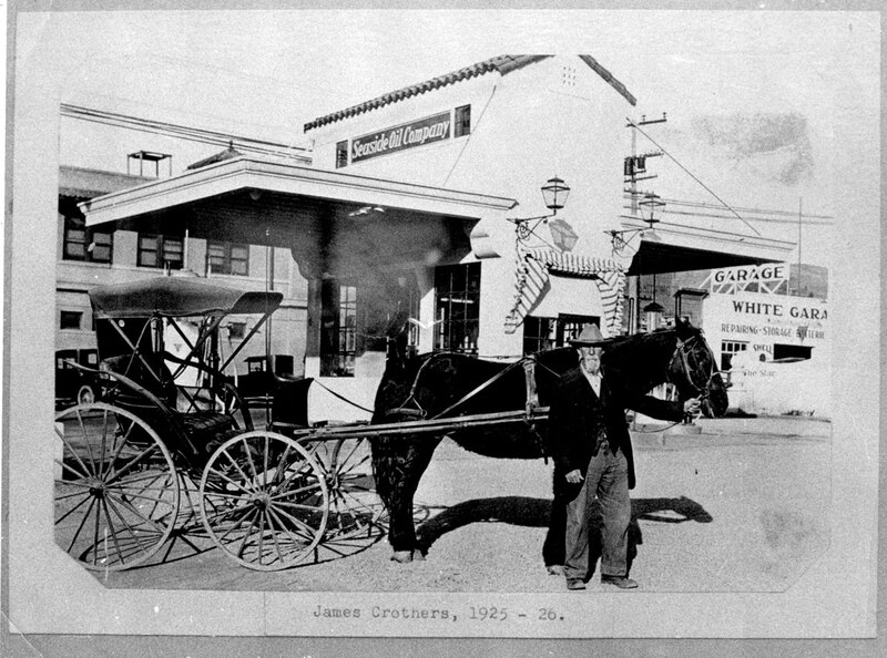 James Crothers and His Horse and Buggy