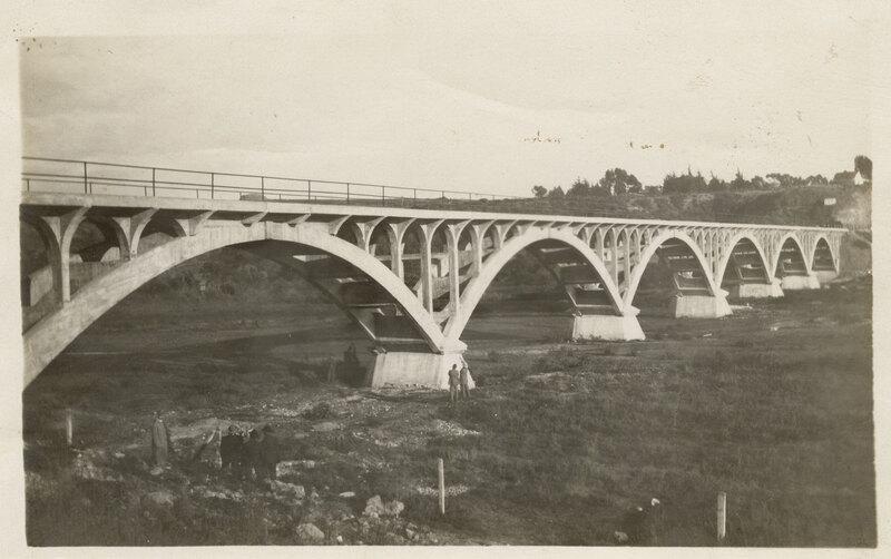 First Concrete Bridge Over Ventura River