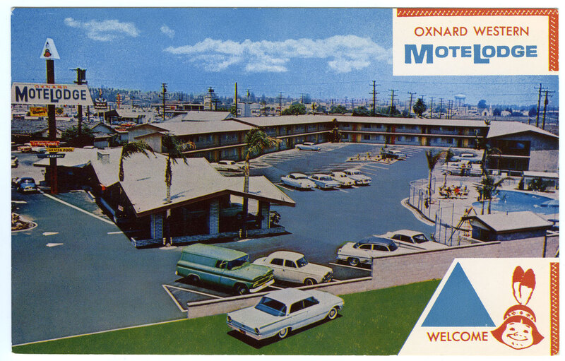 Oxnard Western Motorlodge postcard