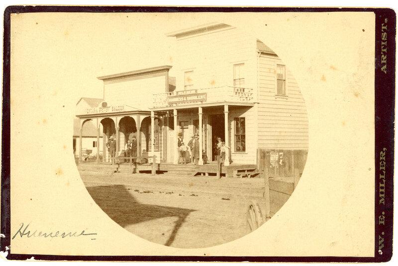 Hueneme in 1890 circular photograph