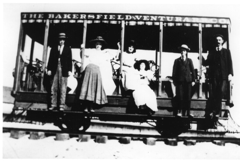 Group Riding a Trolley