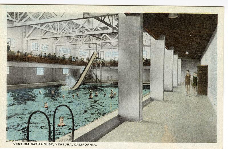 Ventura Bath House, Ventura, California postcard