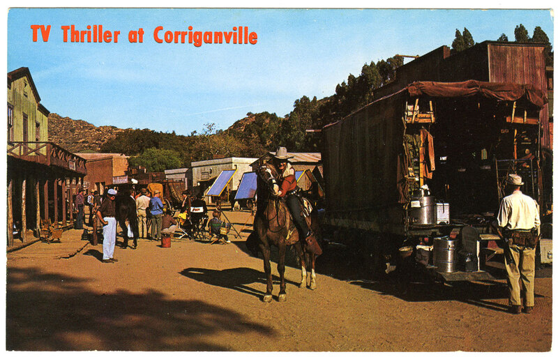 TV Thriller at Corriganville postcard