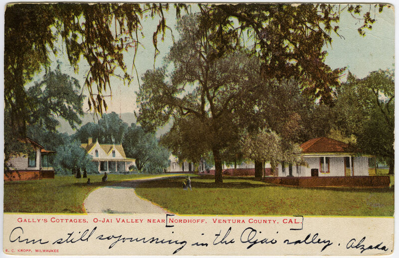 Gally's Cottages, Ojai Valley near Nordhoff postcard