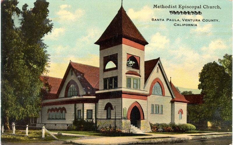 Methodist Episcopal Church, Santa Paula postcard