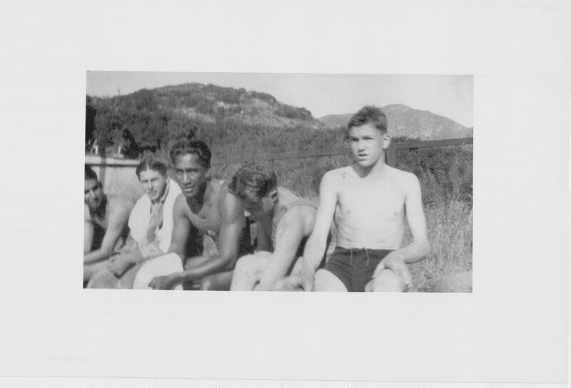 Duke Kahanamoku With Students