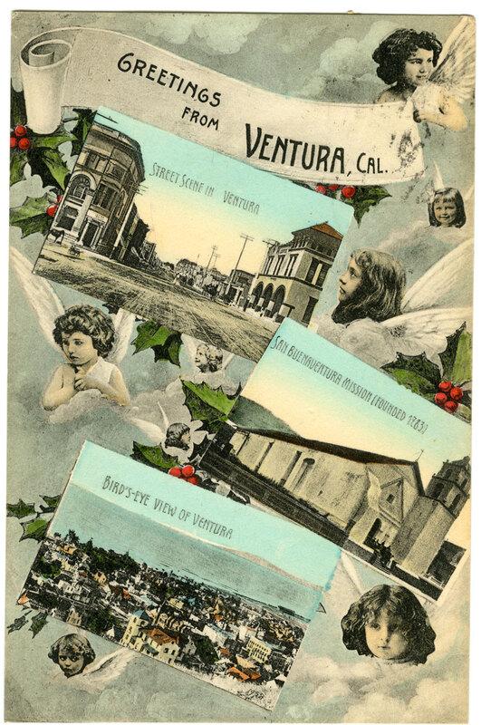 Three Postcards of Ventura Postcard