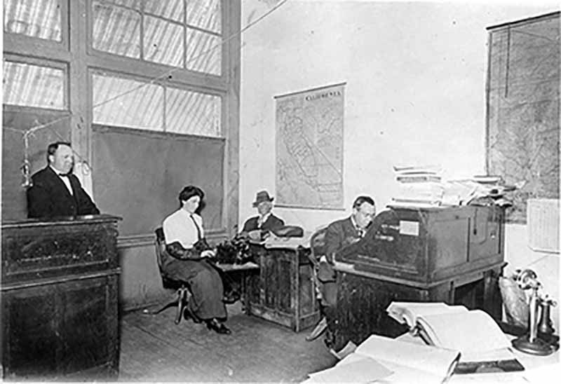 Interior of the Free Press Business Office