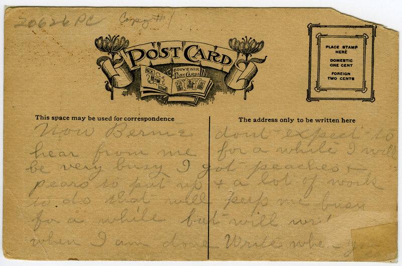 Anacapa Hotel Postcard Verso