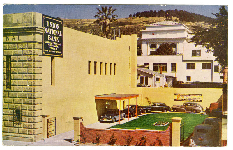 Union National Bank Drive-in Window postcard