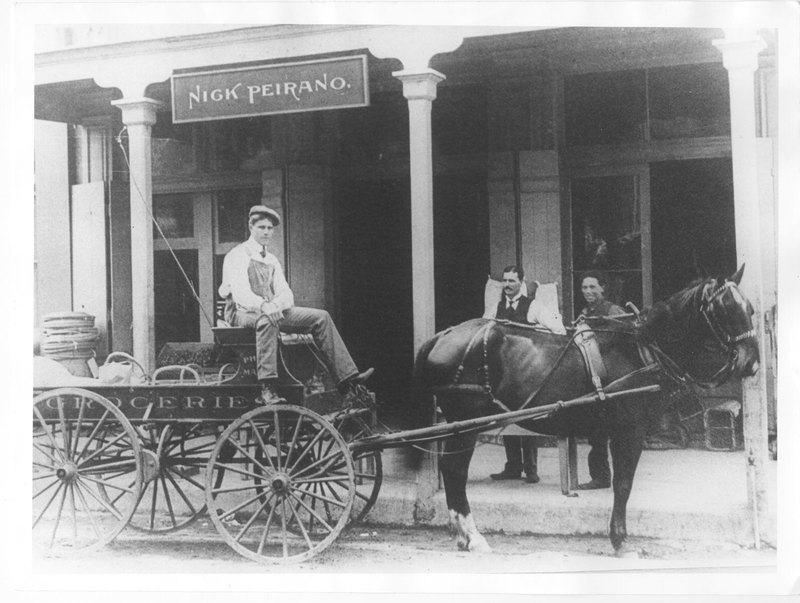 Delivery Wagon at Peirano's Store