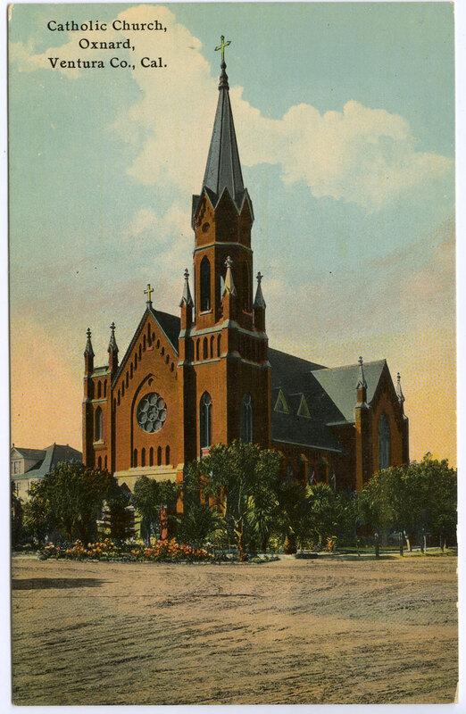 Catholic Church, Oxnard postcard