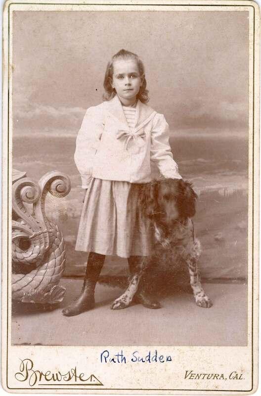 Ruth Sudden With Dog, Child Portrait