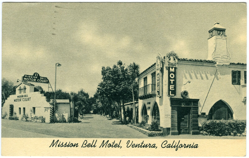 Mission Bell Motel postcard