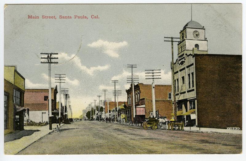 Main Street, Santa Paula postcard