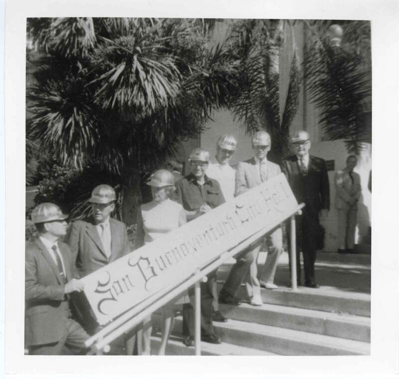 Photograph taken before Ventura County Courthouse signage was changed to City hall