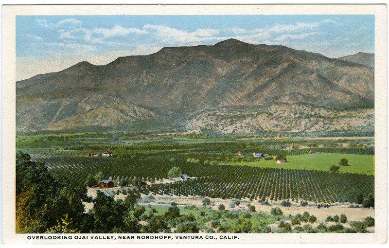 Overlooking Ojai Valley, near Nordhoff post card