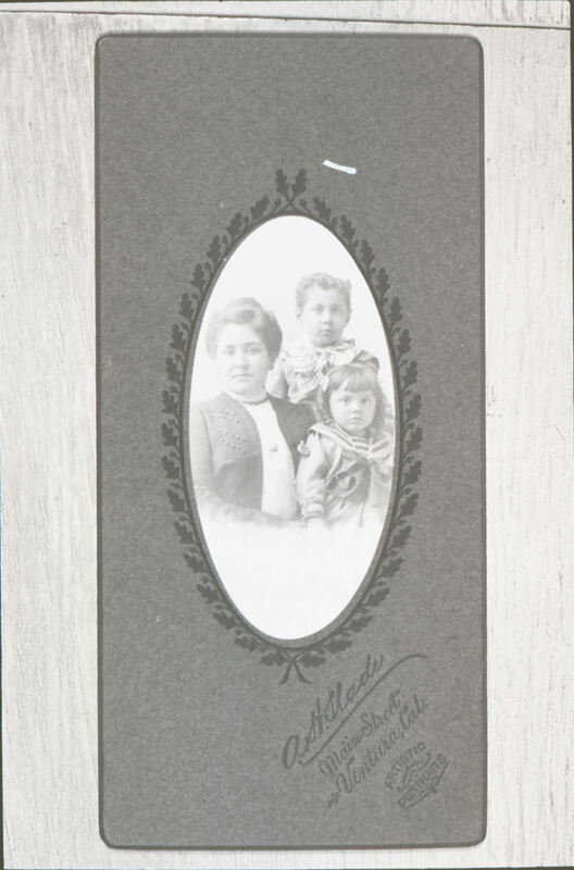 Petra Ruiz Solari with sons Augustine and Gabriel