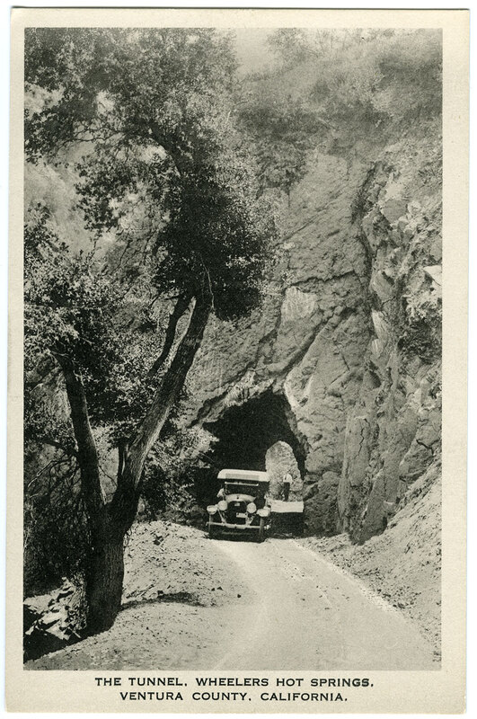 Tunnel, Wheelers Hot Springs postcard
