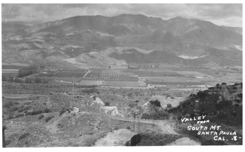 Valley from South Mt. postcard
