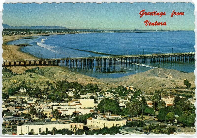 Greetings from Ventura postcard