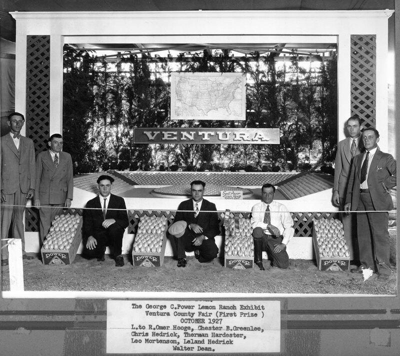 George C. Power Lemon Ranch Exhibit, Ventura County Fair with caption
