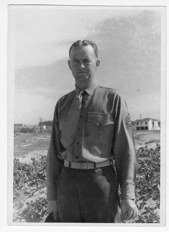 Harry Bostwick, Jr. in military uniform
