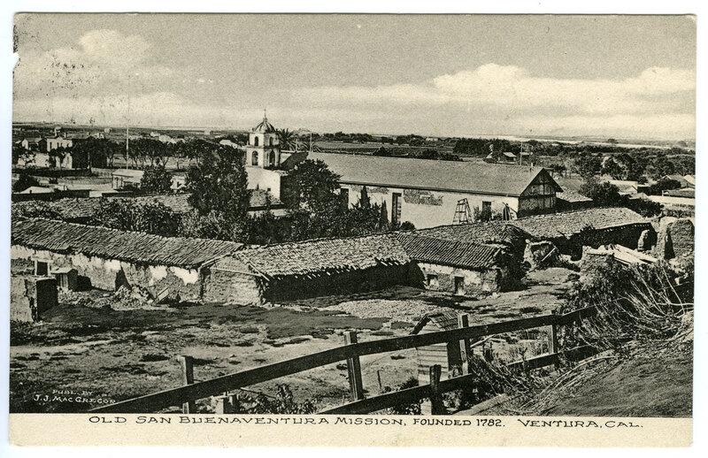 Old San Buenaventura Mission post card
