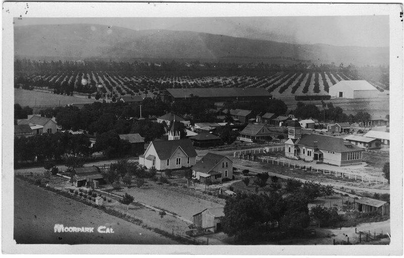 Moorpark, Bird's Eye View post card